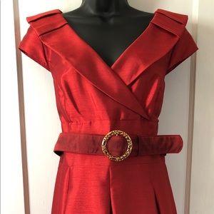 NWT Tahari Belted Evening Dress